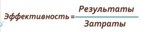 формула эффективности