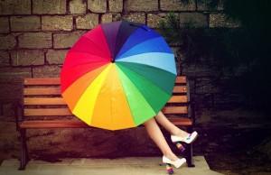 под зонтом х