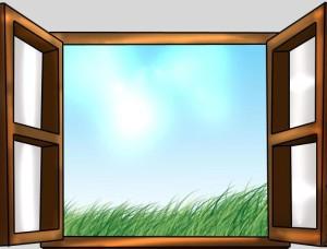 окно х