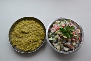 кичери с салатом