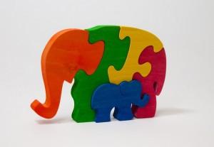 пазл два слона х