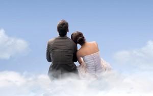 влюбленные на облаке х