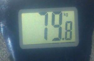 вес 79,8 кг