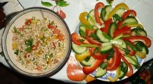 гречка и салат х